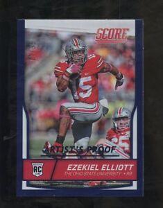 2016 Score Blue Artist's Proof Ezekiel Elliott Dallas Cowboys RC Rookie 7/35