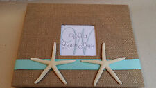 Starfish Beach House Guest Book Set- Anchor Guestbook Pen Coastal Cottage Sea