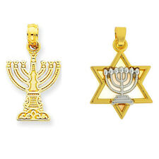 10Pcs Menorah And Star of David Jewish Pendant Religious Charms Free Ship