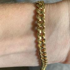 "18k Solid Yellow Gold Miami Cuban Curb Link Men's Bracelet 8"" 6mm 11 grams"