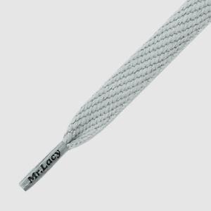 Shoelaces Flat Grey Mr Lacy Flatties, High quality laces 130 cm long,10 mm wide