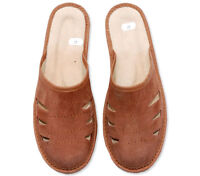 MEN'S BOYS SLIPPERS mule slippers FOR MENs  NATURAL LEATHER  shoes boots