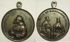 Medaglia votiva religiosa con san Francesco  d'Assisi