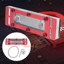 RAM CPU PC Water Cooling Cooler Heatsink Radiator Block 4 Channels Connector Red