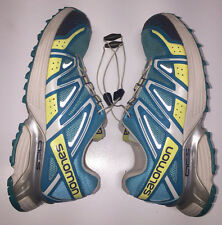 running salomon trail shoes women s womens shoe blue sz 8 yellow XT hornet