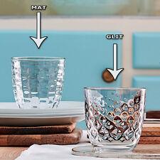 SET de 12 vasos (6 pcs BRILLO UV B + 6 MAT) mesa agua 29,5cl BORMIOLI ROCCO