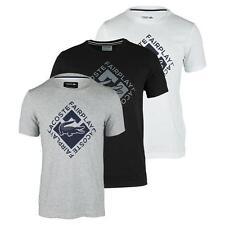 Neuf LACOSTE croco bleu t-shirt homme taille moyenne 4 100% produit Authentique LACOSTE