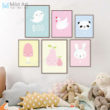 Modern Animals Panda Posters Kawaii Nordic Baby Kids Room Decor Wall Art Canvas