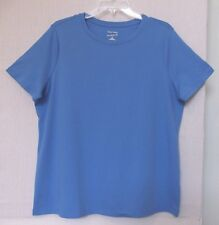 Studio Works Size 3X Blue knit top, short sleeve, round neck, nice to layer NWT