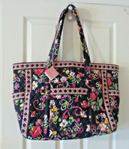 Vera Bradley Get Carried Away Extra Large Tote Shoulder Bag Travel Bag