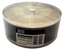 Paquete De 25 Blanco Arita Imprimible Doble capa DVD + R DL 8x Discos en Blanco 8.5 GB Ritek