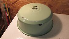 Antique Green Enamelware Cake Cover
