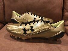 NEW UA Under Armour Mens Size 15 Speedform MC Football Cleats Gold 1270816-777