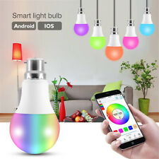 B22 LED Smart Bluetooth RGB Light Bulb Dimmable IOS Android APP Control