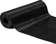 "24"" Wide Black Rubber 1/8"" Corrugated Ribbed Industrial Mat"