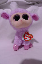 "Ty Beanie Boos ORCHID 6"" Easter lamb plush NWT"