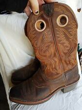 Ariat Heritage Roughstock 7D Pull On Square Toe Western Cowboy Boots