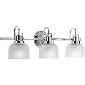 "Progress 3-Light ""Archie Series"" Vanity Light - Polished Chrome - P2992-15"