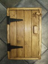 SOLID PINE WOOD WOODEN HANDMADE KITCHEN BATHROOM WALL CUPBOARD Oblong Handle