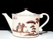 New listing Vintage Style Eyes ANIMAL LANDSACPE Tea Pot by Baum Brothers