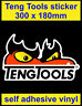 300mm Teng Tools Sticker motorsport Sponsor Tool Box decal workshop car van