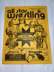1974 All Star Wrestling La Crosse Wi. Event Flyer