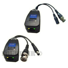 1 Pair CCTV Coax BNC Video & Power Balun Transceiver to CAT5e 6 Surge Protection
