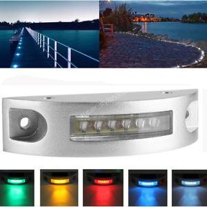 HOT Solar 6 LED Wall Light Outdoor Waterproof Garden Driveway Pathway Step Lamps