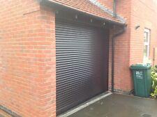 ELECTRIC GARAGE DOOR ROLLER SHUTTER BLACK 10FT X 8FT NEW