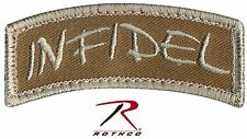 Desert Tan INFIDEL Tactical Morale Patch - Rothco Hook Back Patches