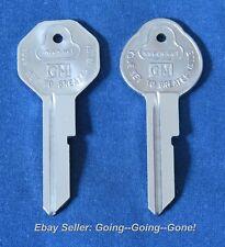 SET ORIGINAL KEY BLANKS CHEVY PONTIAC OLDS BUICK GM 1935-1966 B10 B11 IGN & TRK