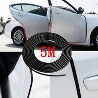 5M Black Rubber Car Door Scratch Protector Cover Strip Edge Guard Moulding Trim