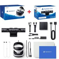 Sony Playstation VR Headset PS VR Virtual Reality Controller + PS4 Camera Bundle