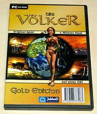 PC SPIEL DIE VÖLKER GOLD EDITION **WIE NEU!!** -- KLASSIKER AUFBAUSTRATEGIE