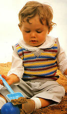SWEET Child's Striped Vest/Baby/Crochet Pattern INSTRUCTIONS ONLY