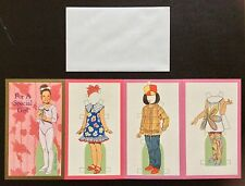 For a Special Girl Paper Doll Greeting Card by Tom Tierney, 1996, Uncut, Unused