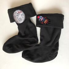 Hunter Kids Boot Welly Fleece Socks Spaceship Manmoon Black Space Sz XL US 4 -6K