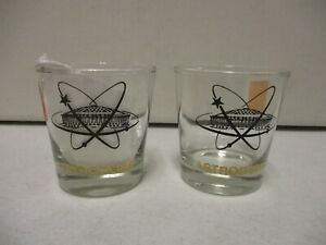 2 1980's Houston Astros Astrodome Glasses