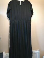 Lovely Smart Black Sleeveless New Look Maternity Dress Size 18