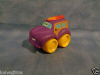 Tonka Hasbro 2006 Chuck & Friends Soft Car Purple Hard Plastic Yellow Wheels