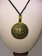 St Benedictl Pendant and cord Necklace Religious Protection