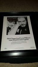 Merle Haggard Leona Williams Heart To Heart Rare Original Promo Poster Ad Framed