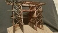 N SCALE TRAIN CAR TRACK DETAIL BRIDGE MTL ATLAS  INTERMOUNTAIN ATHEARN;WEATHERED