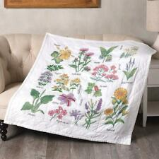 Bucilla® Wildflower Botanical Lap Quilt Stamped Cross-Stitch