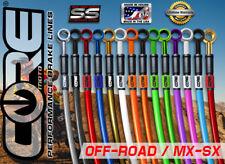 HONDA CRF150RB BIG WHEEL 2007-2016 MX CORE MOTO FRONT & REAR BRAKE LINE KIT