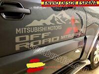 2X Laterales Adhesivas Decal stickers Vinilos Coche 4x4 Mitsubishi OFFROAD