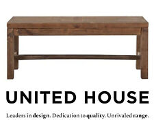 Rustic Solid Timber Bench Seat Wooden Wood Country Furniture