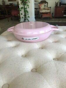 Le Creuset Chiffon Pink 3-1/2 3.5 Qt Cass/Braiser  Grill  #30