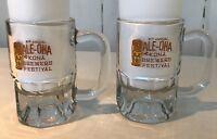 Kona Brewers Festival Beer Mugs Steins 2 Glass Set Hawaiian Tiki Ale Oha 8 oz