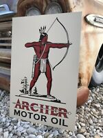 Antique Vintage Old Style Archer Motor Oil Sign